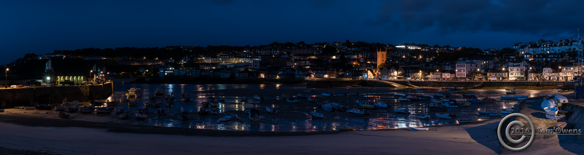 St Ives harbour low tide 50 minutes before sunrise