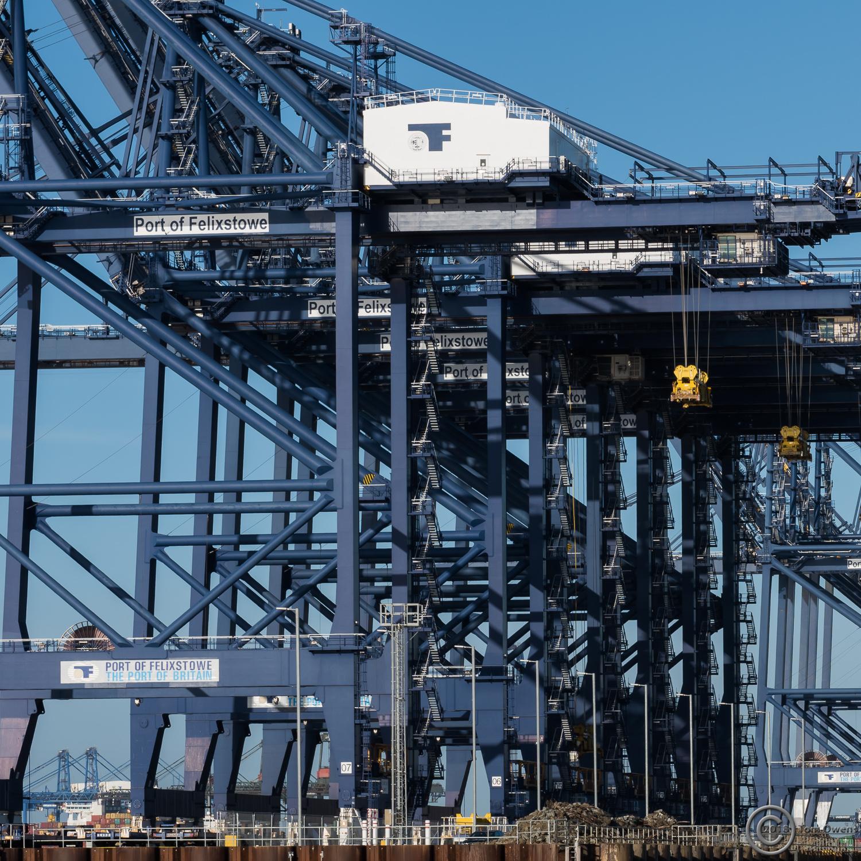 Cranes at container terminal