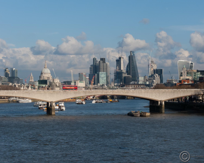 London from the Golden Jubilee Bridge -seaward side