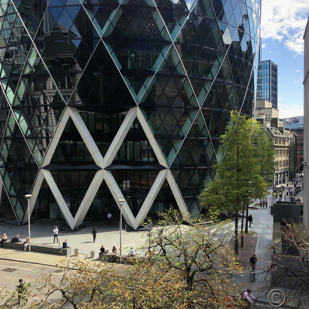 Entrance to the gherkin